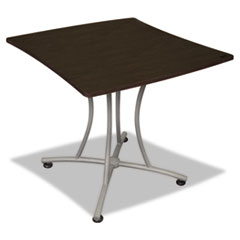 Trento Line Palermo Table, 33w x 31-1/2d x 29-1/2h, Mocha/Gray LITTR702MOC