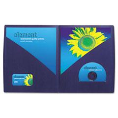 IMPACT Designer Two-Pocket Folder, 11 x 8-1/2, Navy, 5/Pack GBC55517