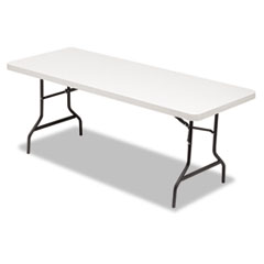 RESIN RECTANGULAR FOLDING TABLE, 72W X 30D X 29H,