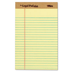 """The Legal Pad"" Ruled Perforated Pads, Narrow, 5 x 8, Canary, Dozen"