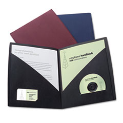 IMPACT Designer Two-Pocket Folder, 11 x 8-1/2, Black, 5/Pack GBC55518