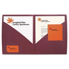 IMPACT Designer Two-Pocket Folder, 11 x 8-1/2, Burgundy, 5/Pack GBC55516