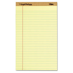 """The Legal Pad"" Ruled Perforated Pads, Legal/Wide, 8 1/2 x 14, Canary, Dozen"