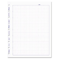 MiracleBind Quad Ruled Refill Sheets, 9-1/4 x 7-1/4, White, 50 Sheets/Pack