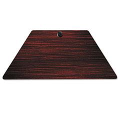 Valencia Series Training Table Top, Trapezoid, 47-1/4w x 23-5/8d, Mahogany