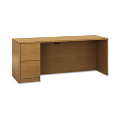 10500 Series Full-Height Left Pedestal Credenza, 72 x 24 x 29-1/2, Harvest