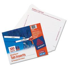 Laser/Inkjet Hanging File Folder Inserts, 1/3 Tab, 3 1/2, White, 100/Pack