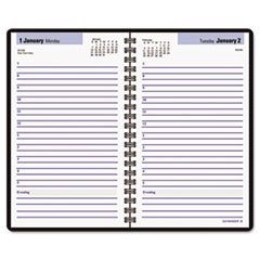 "COU ** Recycled Daily Appointment Book, Black, 4 7/8"" x 8"", 2013 at Sears.com"