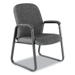 Alera Genaro Series Guest Chair, Graphite Fabric, Sled Base