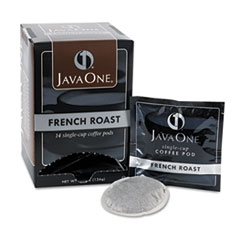Coffee Pods, French Roast, Single Cup, 14/Box