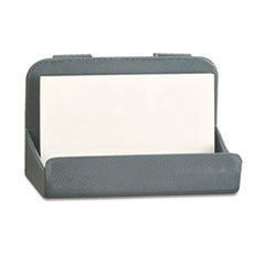 Recycled Plastic Cubicle Business Card Holder, 4 x 2 1/4 x 2 3/8, Charcoal UNV08203