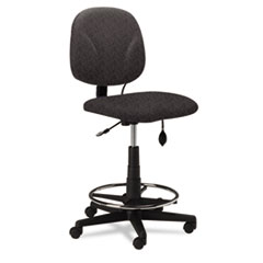 Swivel Task Stool, Gray Fabric