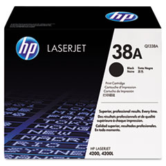 HP 38A, (Q1338A) Black Original LaserJet Toner Cartridge