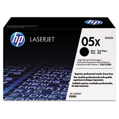 HP 05X, (CE505X) High Yield Black Original LaserJet Toner Cartridge