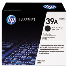 HP 39A, (Q1339A) Black Original LaserJet Toner Cartridge