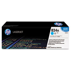 HP 824A, (CB381A) Cyan Original LaserJet Toner Cartridge