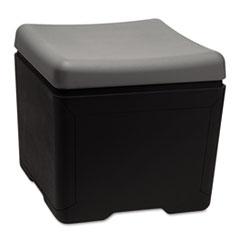 OTTO File Ottoman, 18w x 18d x 17-1/4h, Charcoal/Black ICE64531