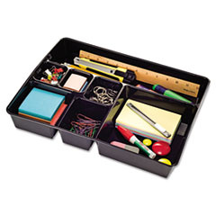 Universal Recycled Deep Drawer Organizer, 7 Sections, 15 x 11 7/8 x 2 3/4, Black at Sears.com