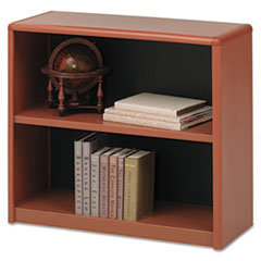Value Mate Series Metal Bookcase, Two-Shelf, 31-3/4w x 13-1/2d x 28h, Cherry