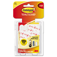 Assorted Refill Strips, White, 16/Pack MMM17200CL