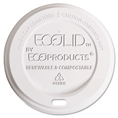 Eco-Products Hot Cup Lid, 8oz, Translucent, 800/Carton ECOEPECOLID8