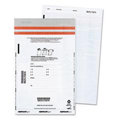 Tamper-Evident Deposit Bags, 12 x 16, White, 100 per Pack
