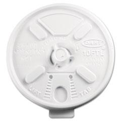 Lift N' Lock Plastic Hot Cup Lids, Fits 10oz Cups, White, 1000/Carton DCC10FTL