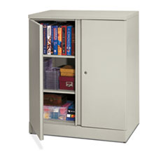 MotivationUSA * Easy-to-Assemble Storage Cabinet, 36w x 18d x 42-3/4h, Light Gray at Sears.com