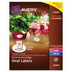 Oval Avery Labels