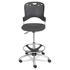 Circulation Stool, Polypropylene Back/Seat, Black