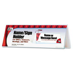 2-Sided Name/Sign Holder, Blank, 11 x 3 1/2 x 4, Clear DAXN2709N4T