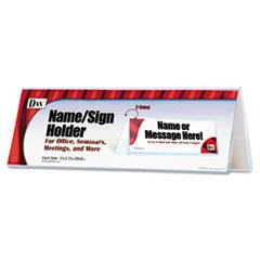 Sign Name Holder, Blank, 11 x 4, Clear DAXN2709N4T