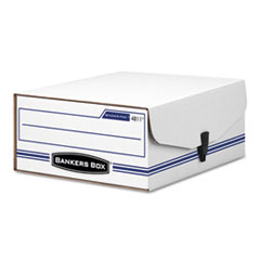 LIBERTY Binder-Pak Storage Box, Letter, Snap Fastener, White/Blue