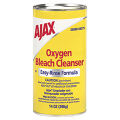 Ajax Oxygen Bleach Easy-Rinse Formula Cleanser, No Chlorine, 14oz, 48/Carton CPC04275