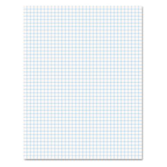 Quadrille Pads, 4 Squares/Inch, 8 1/2 x 11, White, 50 Sheets TOP22030C