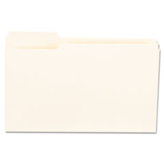 File Folders, 1/3 Cut First Positions, One-Ply Top Tab, Legal, Manila, 100/Box UNV15121