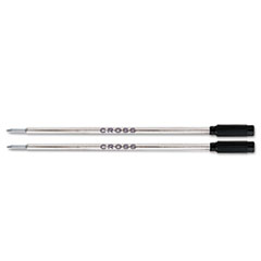 Refills for Ballpoint Pens, Medium, Black Ink, 2/Pack