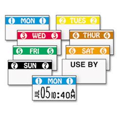 FreshMarx Freezx Color-Coded Labels, Saturday, White/Orange, 2500/Roll