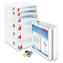 Cardinal® FreeStand™ EasyOpen® ClearVue™ Locking Slant-D® Ring Binder