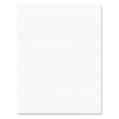 Glue Top Pads, Narrow Rule, 8 1/2 x 11, White, 50 Sheets, Dozen