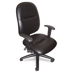 24-Hour High-Performance Task Chair, Black Leather