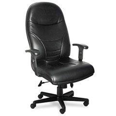 Mayline® Comfort Series Executive High-Back Swivel/Tilt Chair with Cut-Out Feature