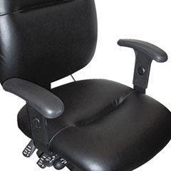 Height-Adjustable T-Bar Arms for 24-Hour Task Chairs, Black MLN12ADJARM