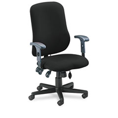 Comfort Series Contoured Support Chair, Acrylic/Poly Blend Fabric, Black MLN4019AG2113