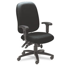 24-Hour High-Performance Task Chair, Acrylic/Poly Blend Fabric, Black