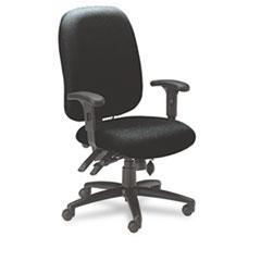 24-Hour High-Performance Task Chair, Acrylic/Poly Blend Fabric, Black