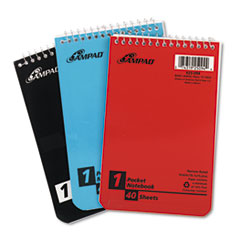 Wirebound Pocket Memo Book, Narrow, 4 x 6, White, 40 Sheets, 3 Pads/Pack TOP45094