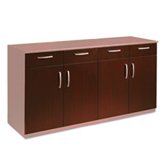 Wood Veneer Buffet Credenza Doors/Drawers, Sierra Cherry MLNVBCZDCRY