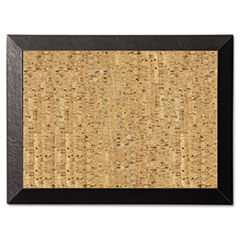 Natural Cork Bulletin Board, 24x18, Cork/Black