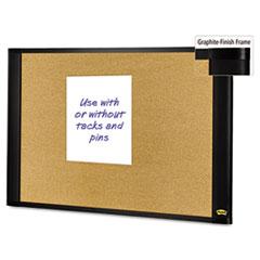 Sticky Cork Board, 36x24, Graphite Frame